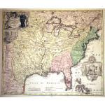 M-12206 - c. 1719 Homann Mississippi River Region Map Preview