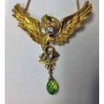 French Art Nouveau 18K mythological, Diamond and Peridot Necklace, C.1900 Preview