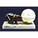 Art Deco Bear Lamp France C.1930. Preview