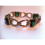 Very Fine Tourmaline and 14K Bracelet, 20th century Preview