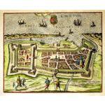 M-12979 - Renaissance Map of Calais - Braun & Hogenberg c. 1598 Preview