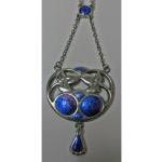 Charles Horner Art Nouveau Enamel Pendant Necklace, Chester 1909.  Preview