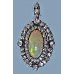 Fine Opal and Diamond Pendant, English C.1880 Preview