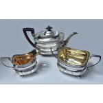 Georgian Silver Tea service, London 1811 Peter & William Bateman.  Preview