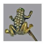 Antique 18K Frog Stickpin, C.1890  Preview