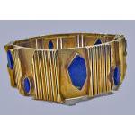 Archibald Dumbar 18K Lapis lazuli bracelet cuff, Amsterdam C.1970 Preview