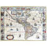 M-13904 - Cornerstone map of the Americas, c. 1644 Blaeu - Cartes a Figures  Preview